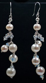Crystal Tears earrings long